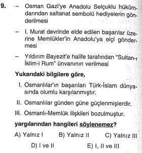 osmanlı kuruluş dönemi testi online çöz