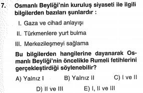 ygs osmanlı kuruluş dönemi testi çöz