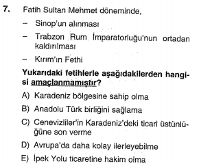 osmanlı yükselme dönemi testi çöz