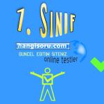 7. Sınıf Türkçe Zarflar Testi Çöz 1