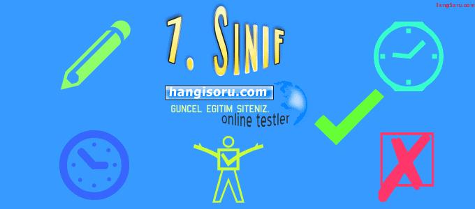 7. Sınıf Yazım Kuralları Testi Çöz 3