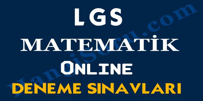 8. Sınıf LGS Matematik Deneme Sınavı Çöz